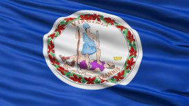 Waving Flag Of The Commonwealth Of Virginia