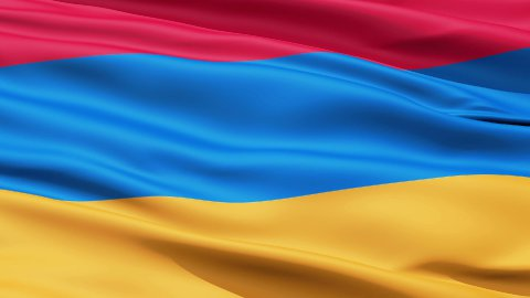 Waving Flag Of Armenia - stock footage