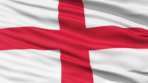 Flag of England - stock footage