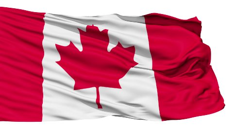 Fluttering Flag Of Canada - stock footage