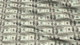 Crumpled Sheet Uncut American Dollar Banknotes - motion graphic