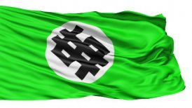 Flapping Green Flag With Dollar Sign - motion graphic
