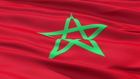 Waving Flag Of Morocco - stock footage