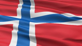 Realistic 3D detailed slow motion norway flag in the wind