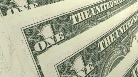 Macro of One DollarAmerican Banknotes - motion graphic