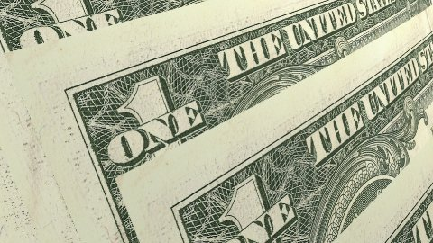 Macro of One DollarAmerican Banknotes - stock footage