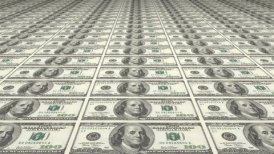 Large Sheet Uncut American Dollars - motion graphic