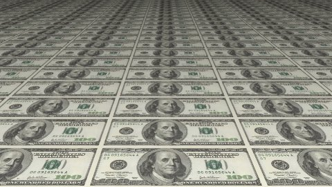 American Dollars Counterfeiting Or Printing - stock footage