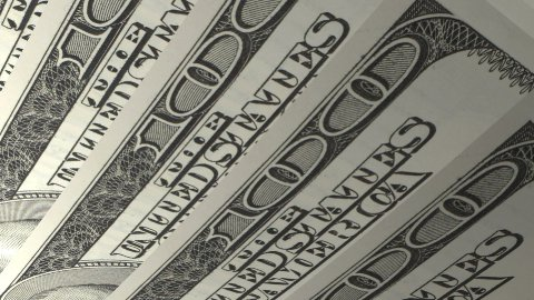 Macro 100 Dollar American Bills - stock footage
