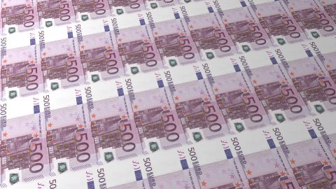 Multiple 500 Euro Banknote Background - stock footage