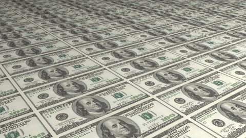 Diagonal American Dollar Bills Greenbacks - stock footage