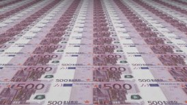Euro Currency Banknote Background - motion graphic