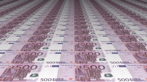 Uncut Euro Banknotes - stock footage