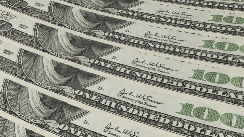 Close Up 100 Dollar Bills Background - stock footage