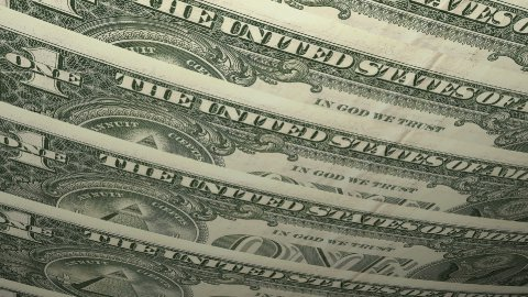 United States One Dollar Bill - stock footage