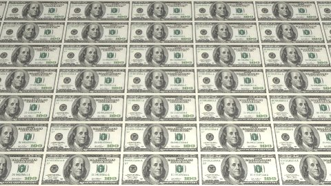 American Dollars Background - stock footage