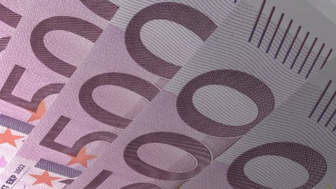 Texture Design 500 Euro Banknotes - stock footage