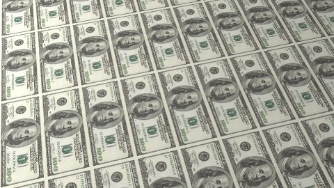 Multiple 100 Dollar Bill Background - stock footage