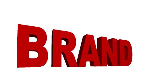 Destruction of the word Brand - stock footage