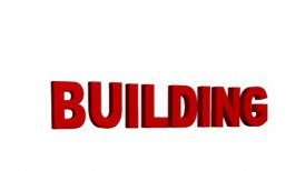 Destruction of the word Building - motion graphic