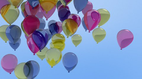 balloons 01 - stock footage