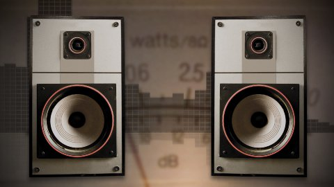 Old speakers 01 - stock footage