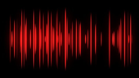 Red Audio spectrum dancing - stock footage