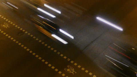 Night City Traffic 02 - stock footage