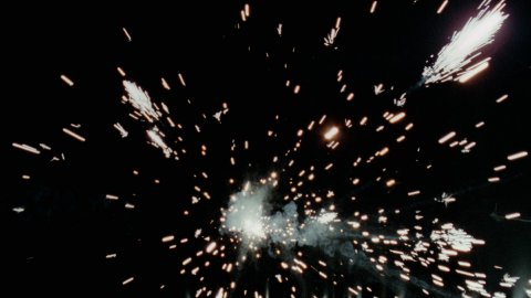 Sparks at Camera - SPK001HD - stock footage