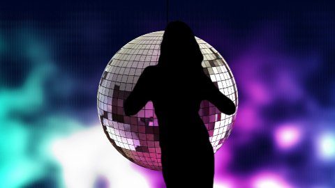 Disco dancer 01 - stock footage