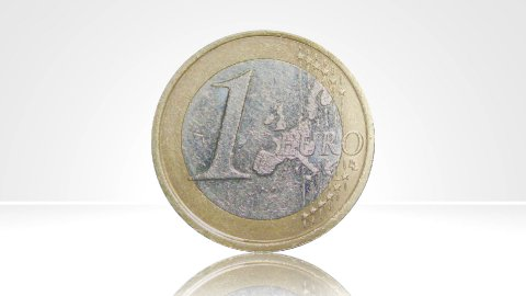 Euro coin france turn around 01 - stock footage
