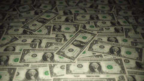 Dollar travelling 02 - stock footage