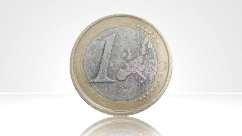 Euro coin Germany turn around 01 - stock footage