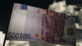 500 Euros bill flag 02 - editable clip, motion graphic, stock footage