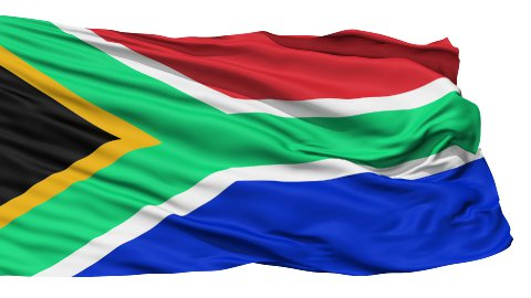 Waving national flag of South Africa - stock footage