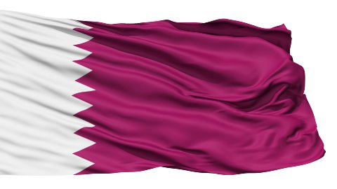 Waving national flag of Qatar - stock footage