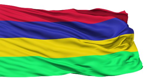 Waving national flag of Mauritius - stock footage
