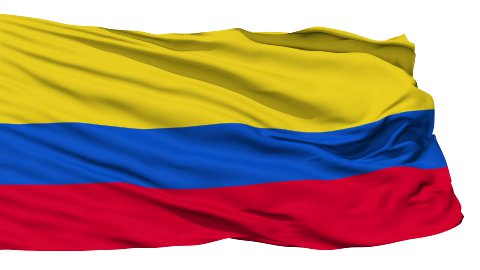 Waving national flag of Colombia - stock footage