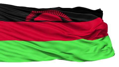 Waving national flag of Malawi - stock footage