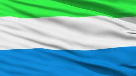 Waving national flag of Sierra Leone