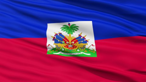 Waving national flag of Haiti - stock footage
