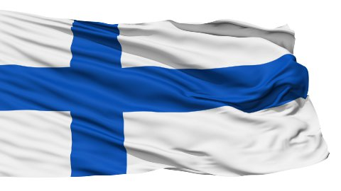 Waving national flag of Finland - stock footage