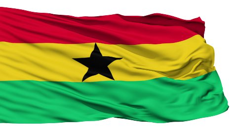 Waving national flag of Ghana - stock footage