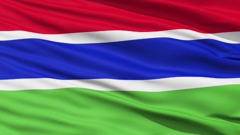 Waving national flag of Gambia - stock footage
