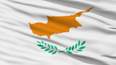 Waving national flag of Cyprus - stock footage