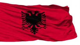 Waving national flag of Albania - motion graphic