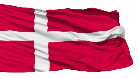 Waving national flag of Denmark - stock footage
