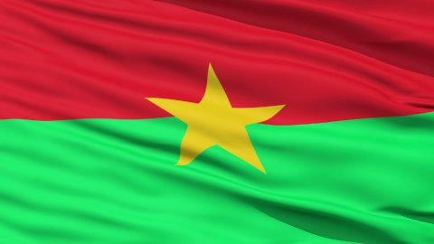 Waving national flag of Burkina Faso - stock footage