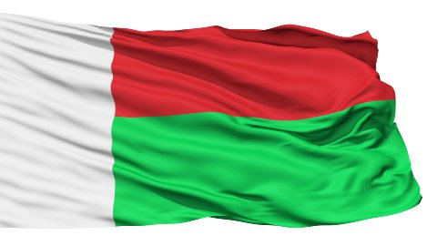 Waving national flag of Madagascar - stock footage