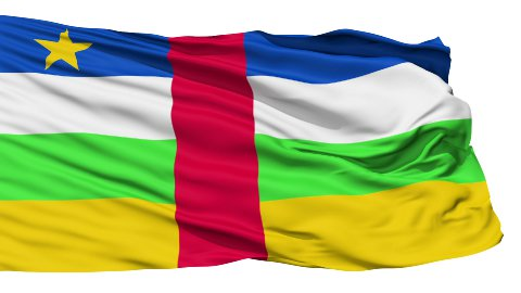 Waving national flag of Central Africa - stock footage